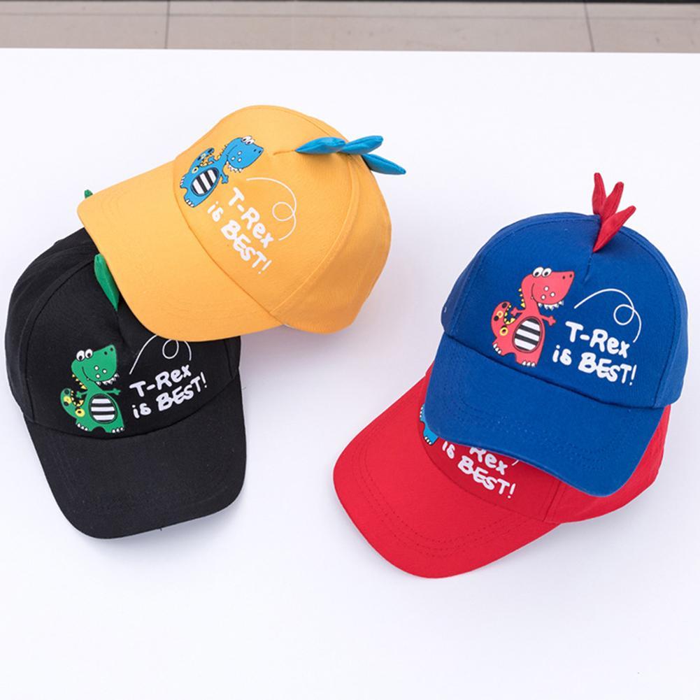 Unisex Boy Girl Kid Cartoon Dinosaur Adjustable Baseball Caps Summer Outdoor Hat