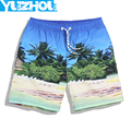 2016 Summer men's Board shorts fastskin beach surfing shorts men swimming trunks mens swimwear swim short swimsuit Elastic gym