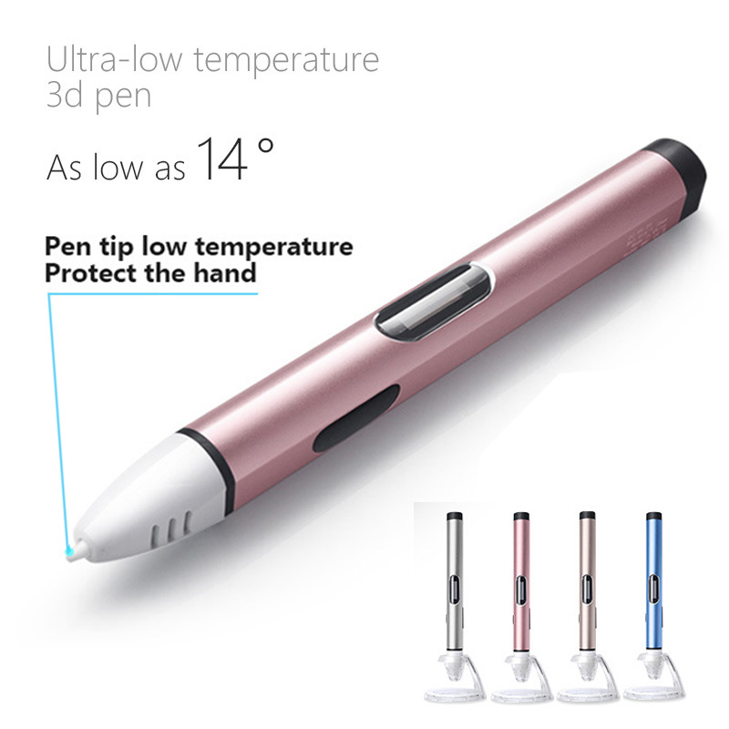 USB plug 3d printed pen low temperature version use PCL filament ordinary version use PLA ABS