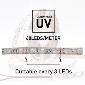 Image 2 - UV אולטרה סגול 5050 SMD LED רצועת אור 0.5 5 M עמיד למים סרט סגול גמיש קלטת מנורת DC12V 395 405nm עבור DJ הקרינה