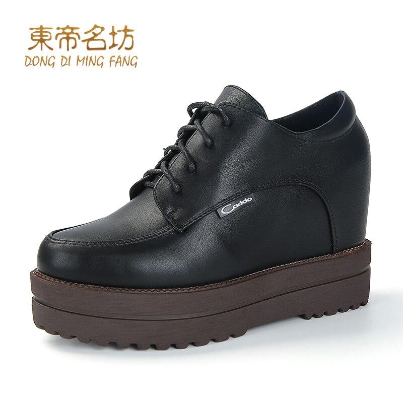 ФОТО Dongdimingfang Flatform Black Color Lace Up Shoes 66601