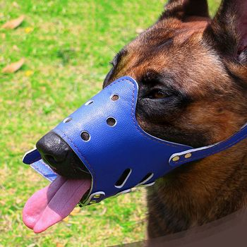 Adjustable Leather Dog Muzzle Anti Bark Bite Chew Dog Training Products For Small Medium Large Dogs Outdoor Pet Products