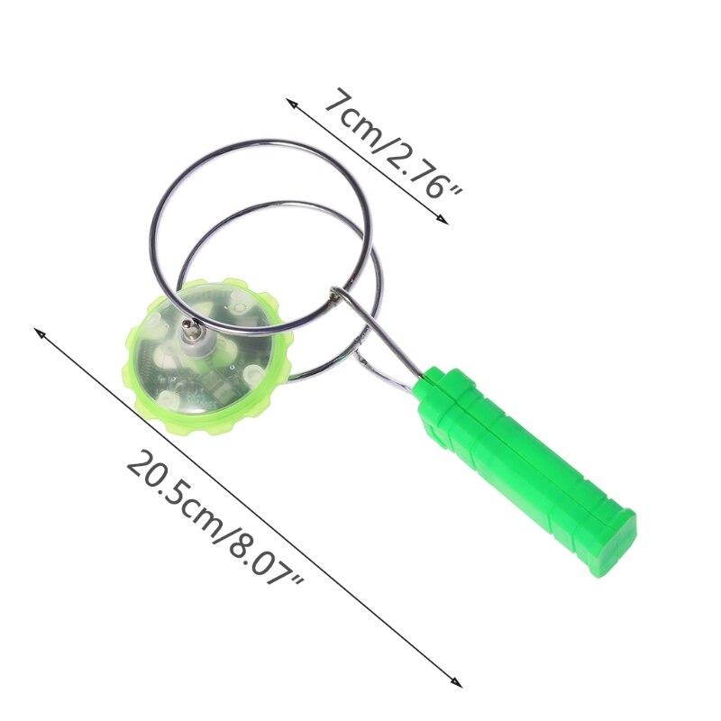 HBB магнитное колесо гироскопа волшебный спиннинг СВЕТОДИОДНЫЙ Красочный светильник гироскоп игрушки йойо дети подарки на день рождения Детские Классические игрушки