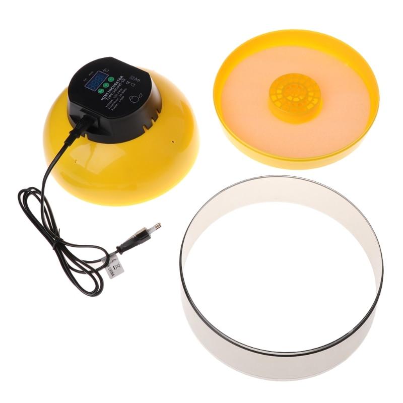 ABS jaj Mini inkubator 10 jaj Hatcher wylęgarni kurczaka LED cyfrowy temperatury rolnych w ue wylęgu zwierząt urządzenie w Produkty do nawożenia i nawadniania od Dom i ogród na  Grupa 2