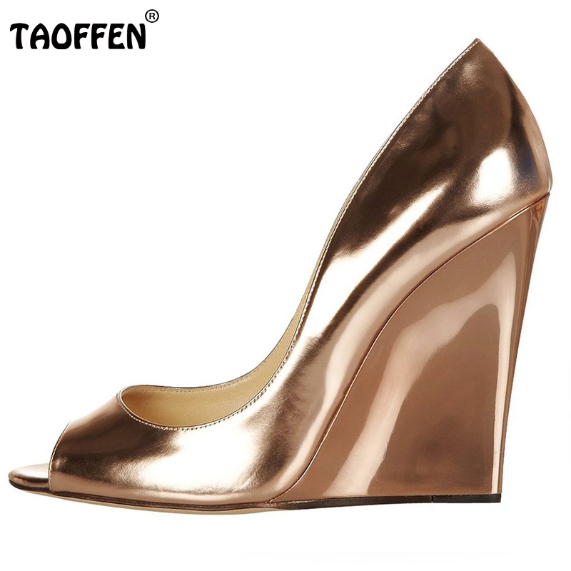 Women Shoes Summer New Open Toe Head Fashion High Heels Ladies Wedge Sandals Platform Brand Shoes Women Pumps Size 35-46 B001 new 2017 spring summer women shoes pointed toe high quality brand fashion womens flats ladies plus size 41 sweet flock t179