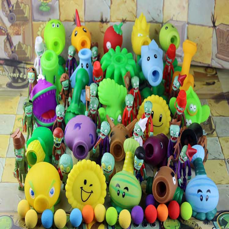 2017 High Quality PVZ Plants vs Zombies Peashooter PVC Action Figure Model Toy Gifts Toys For Children  Brinquedos gift new 10cm kids toys pvz plants vs zombies peashooter pvc action figure model toy plants vs zombies toys for baby gift