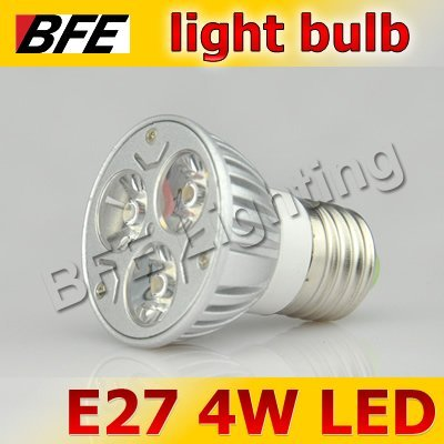 Holiday Sale 4pcs/Lot E27 3 LED 4W Warm/Cold White Spot Light Bulbs Bright For Chandelier Downlight