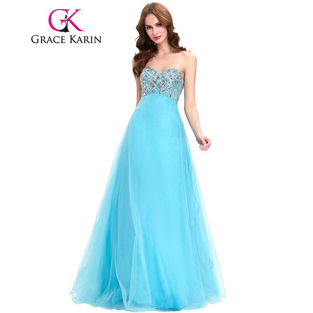▽Prom Dresses 2017 Grace Karin Sweetheart Beading Pink Purple Blue ...