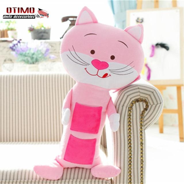 Торговый мило мультфильм привет китти автокресло плечевой ремень обивка розовый автомобилей ремень чехлы для детей защитить игрушки