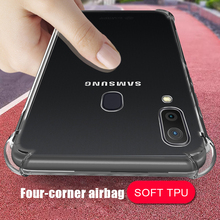 Противоударный мягкий чехол для телефона для samsung A7 A750 Прозрачный Силикон ТПУ чехол для Galaxy A8 плюс A10 A20 A30 A40 A50 крышка