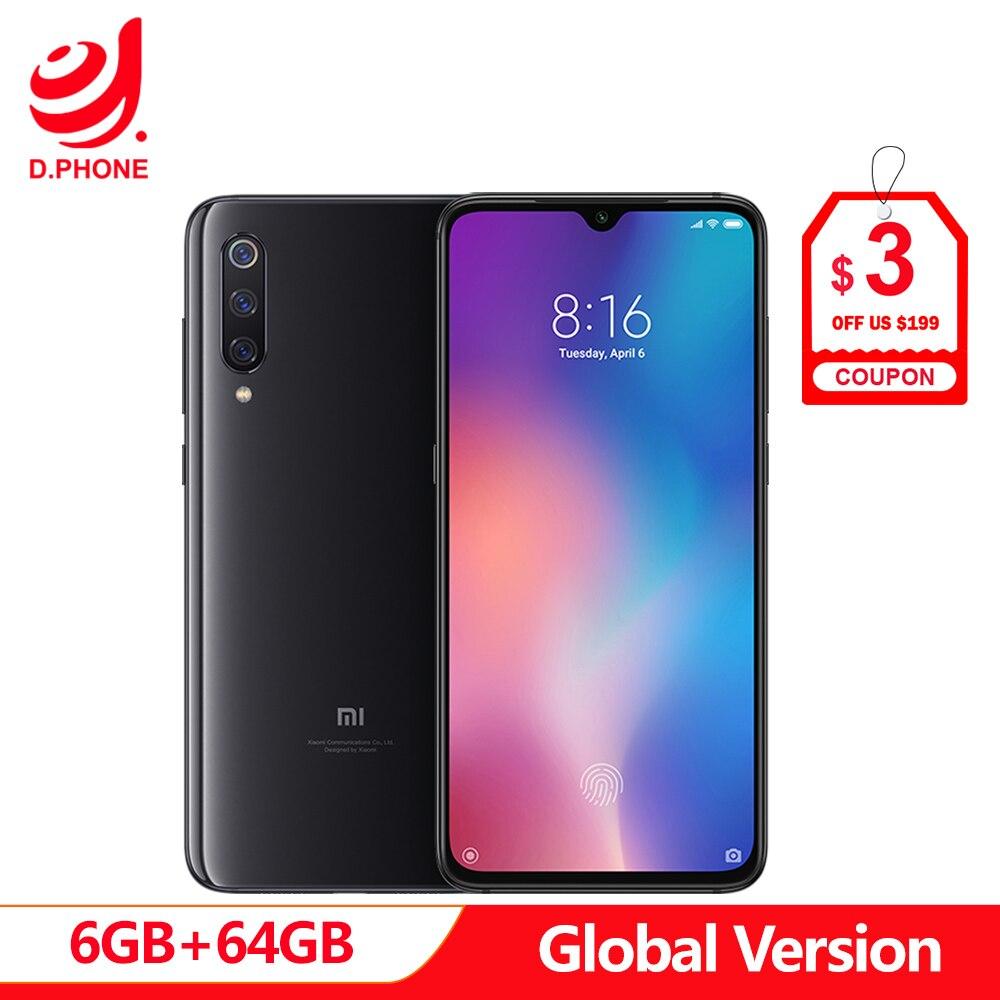 Versão Global Xiao mi mi mi 9 64 6 GB de RAM GB ROM 9 Smartphone Snapdragon 855 Núcleo octa 6.39