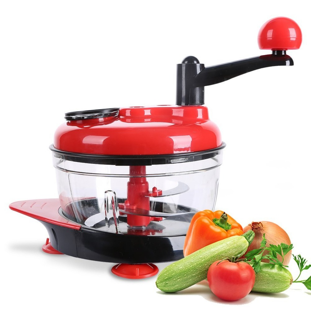 Manual Food Processor, Hand-Powered Miracle Chopper Baby Multi Vegetable Chopper Meat Grinder Fast Salsa Maker Food Mixer Blende wavelets processor