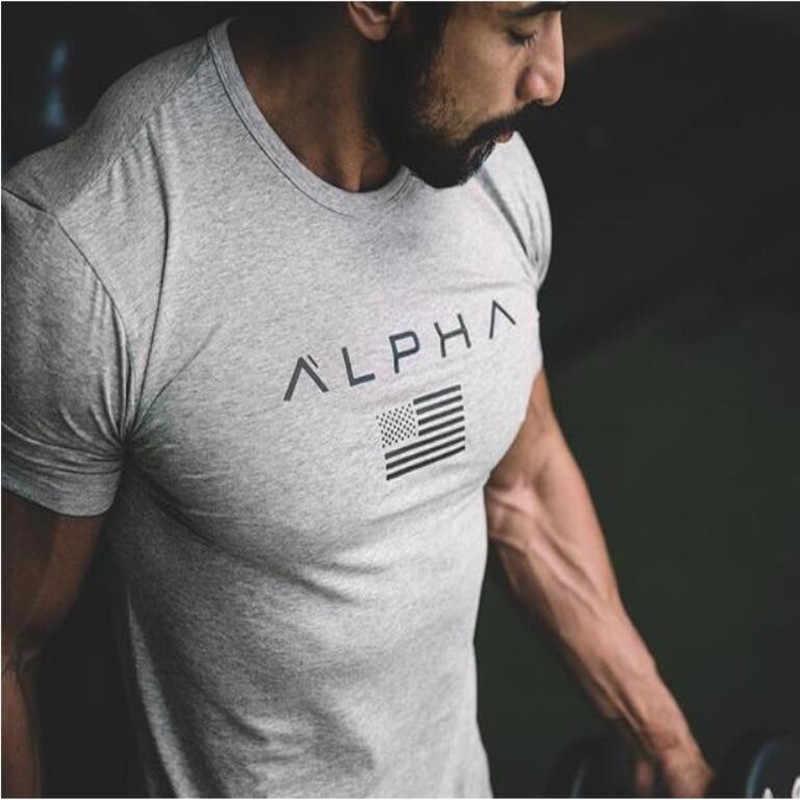 2018 мужской военный армейский футболка 2017 Мужская Звезда свободная хлопковая Футболка с круглым вырезом Альфа Америка размер короткий рукав футболки