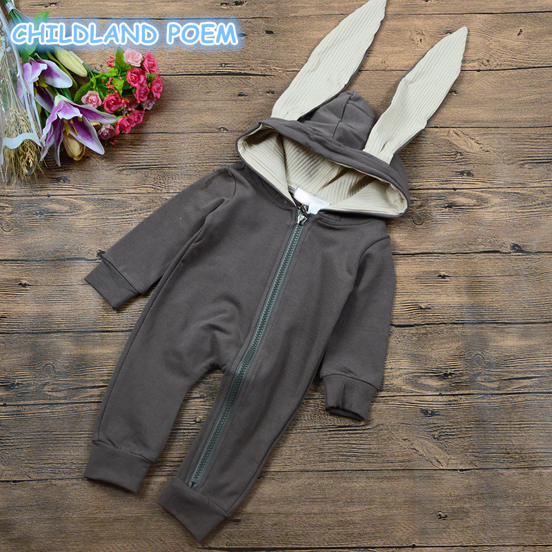 Newborn Infant Baby Girl Boy Clothes autumn Bunny rabbit Ear Romper baby boys layette Jumpsuit Playsuit Bebes Rompers for boys