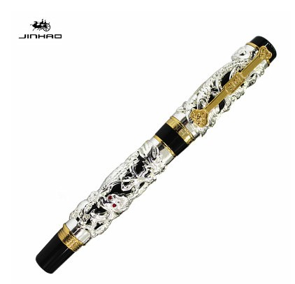 Jinhao The Latest Design Dragon And Phoenix Golden Roller Ball Pen High Quality Hot Selling luxury writing gift pensJinhao The Latest Design Dragon And Phoenix Golden Roller Ball Pen High Quality Hot Selling luxury writing gift pens