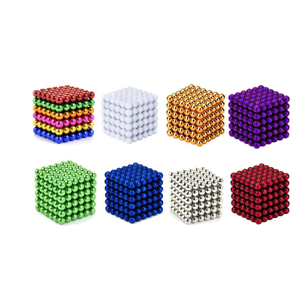 1 set 5mm 216 pz Creativo magnete al neodimio magneti imanes magia Forte NdFeB colorato buck palla giocattoli Divertenti Per Adulti bambini