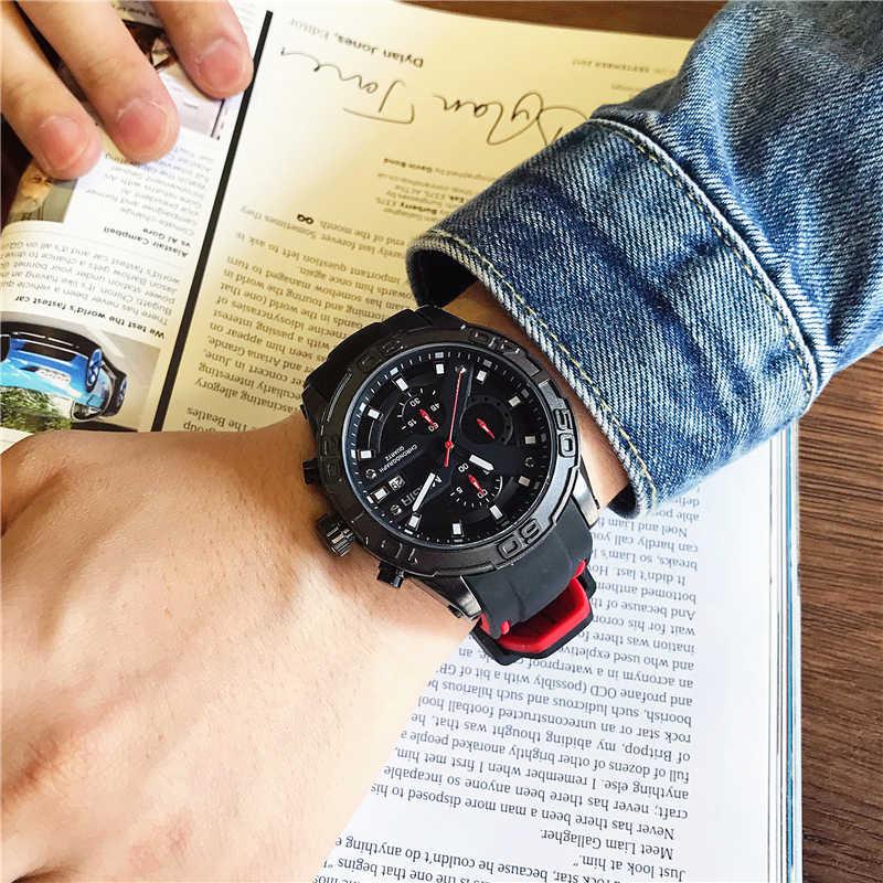 MEGIR Erkekler Saatler Analog Kuvars Kol Saati Su Geçirmez Chronograph Otomatik Tarih spor saat Relogio Masculino Yeni Moda