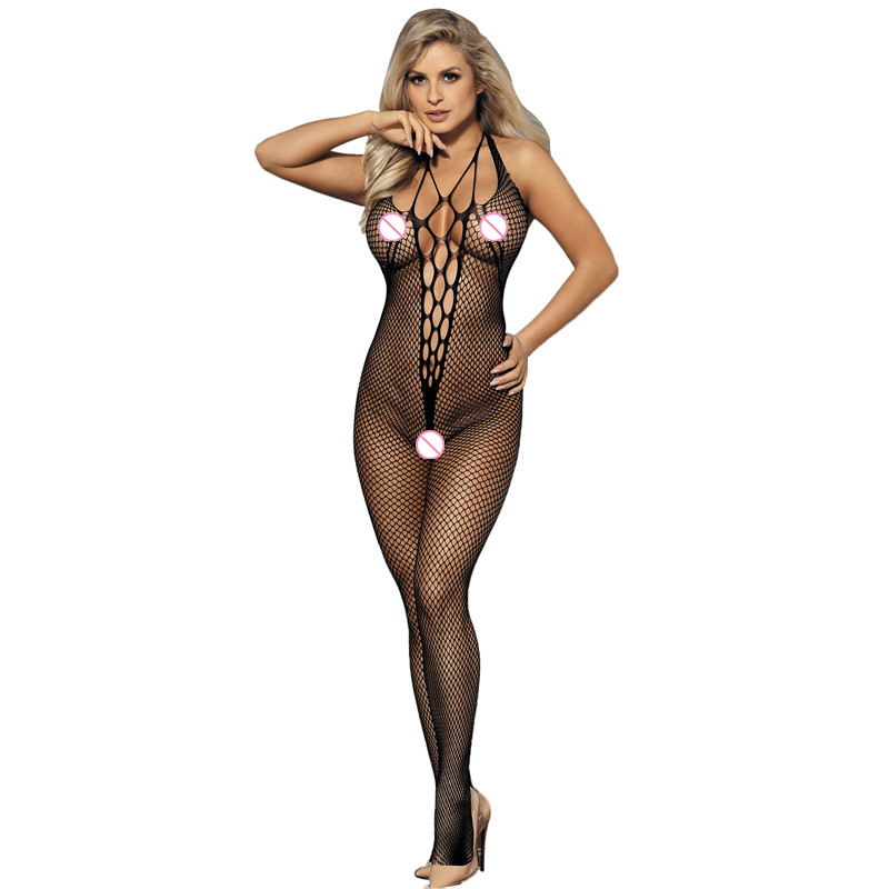 MILLYN Sexy Teddy Bodystockings Hollow Out Open Crotch Stockings Fishnet Mesh Erotic Bodysuit Lingerie Intimates