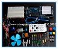 2016 Nuevo Botón de Cable de Puente LED Kit de Inicio UNO R3 Mini Breadboard para Arduino
