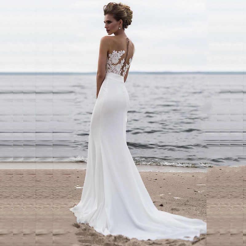 Beach Wedding Dresses: LORIE Beach Wedding Dresses 2019 Boho Mermaid Wedding Gown