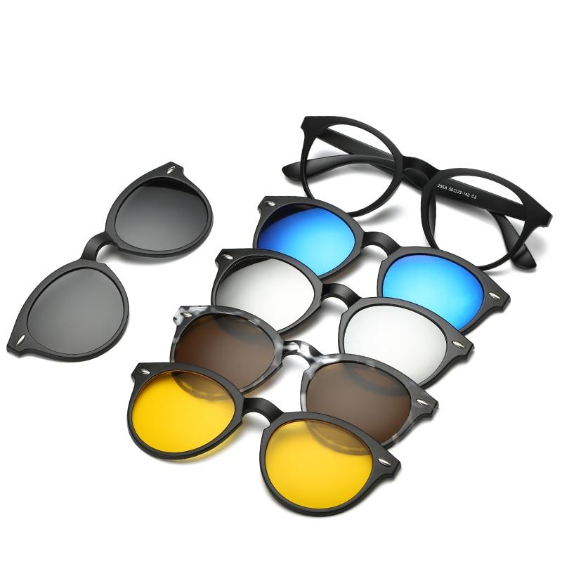 Brightzone Vintage 5 +1 Set Gafas Mujeres Hombres Gafas de sol - Accesorios para la ropa - foto 5