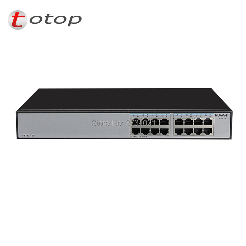 Communication Equipments Fiber Optic Equipments Huawei S1700-16g 16-port Gigabit Monitoring Network Switch 10/100/1000 Base-tx With 4.8 Gbit/s