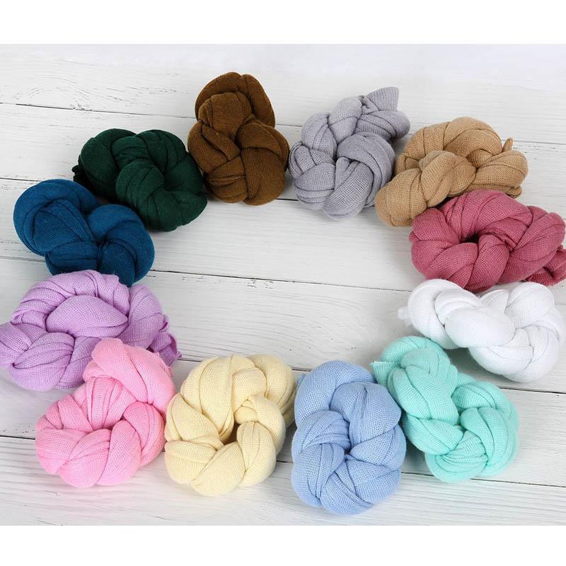 Newborn Photography Props Soft Knit Stretch Wraps 40*150CM Newborn Blankets Gauze Wraps Baby Photo Props Newborn Fotografie цена