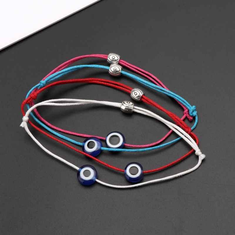 Maldito azul ojo cadena pulsera de Kabbalah amuleto judío protección joyería de la suerte