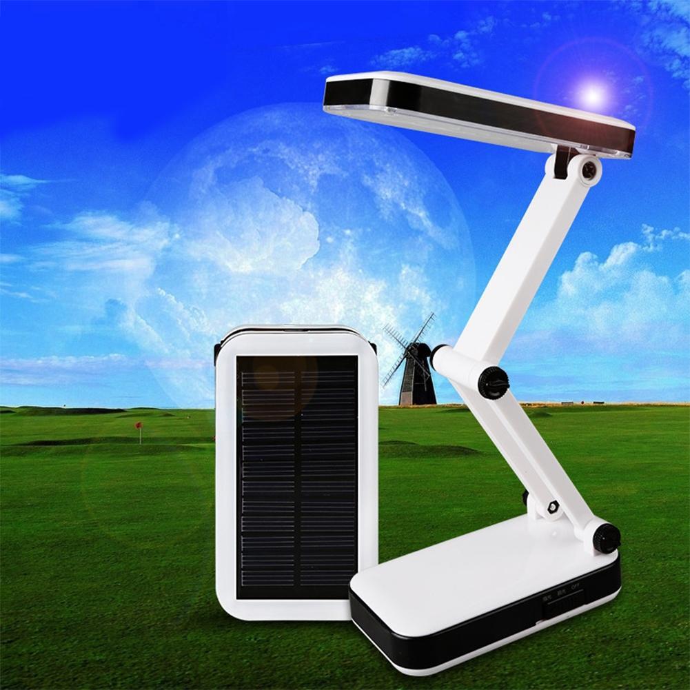 24 светодиодный Настольный светильник защита глаз Складная и регулируемая Soalr заряжаемая лампа для чтения супер яркая для учебы и офиса