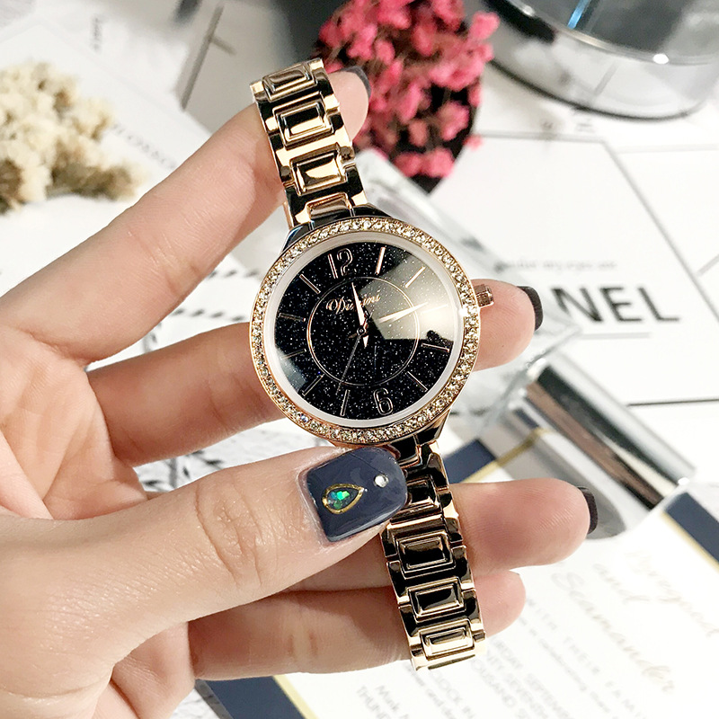 New rhinestone steel with starry quartz watches fashion trend watch womens fashion WatchNew rhinestone steel with starry quartz watches fashion trend watch womens fashion Watch