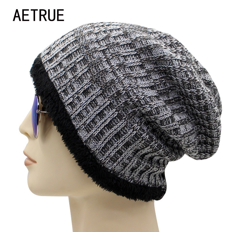 Winter Hat Women Knitted Hat Men Beanies Bonnet Caps Baggy Brand Women's Winter Hats For Men Warm Fur Skullies Beanie 2017 New brand skullies winter hats for men bonnet beanies knitted winter hat caps beanie warm baggy cap gorros touca hat 2016 kc010