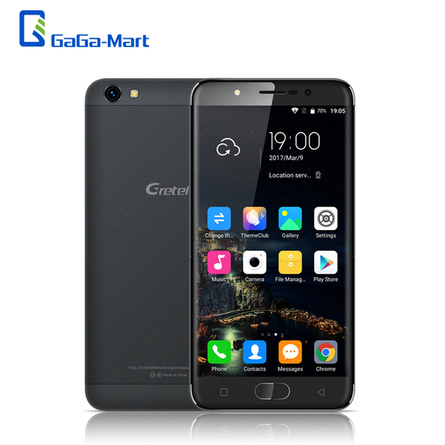 "Gretel A9 4G FDD-LTE Mobile Phone Android 6.0 MTK6737 Quad Core 2GB 16GB 2MP+8MP Fingerprint 5.0"" 2.5D HD 1280*720P Smartphone"