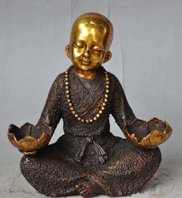 Crafts statue  buddhism bronze gilt Buddhist monk buddha statue lotus flower CandlesticksCrafts statue  buddhism bronze gilt Buddhist monk buddha statue lotus flower Candlesticks