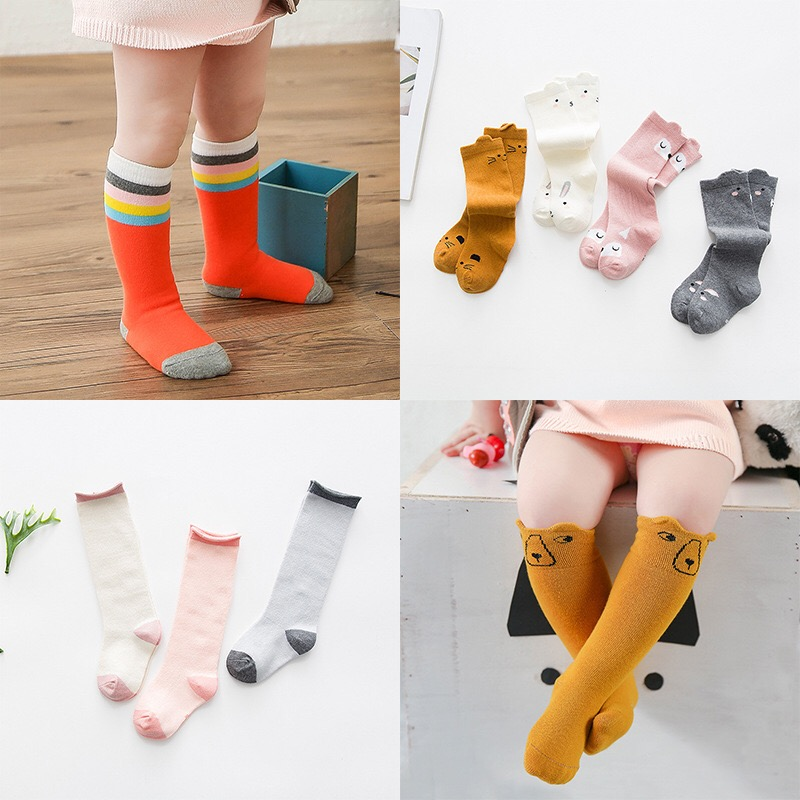 Kids-Long-Socks-Knee-High-toddler-Girls-Boot-Sock-Leg-Warmer-Cute-Cat-Black-baby-Cotton-Sock-for-baby-girls-sloth-socks-2