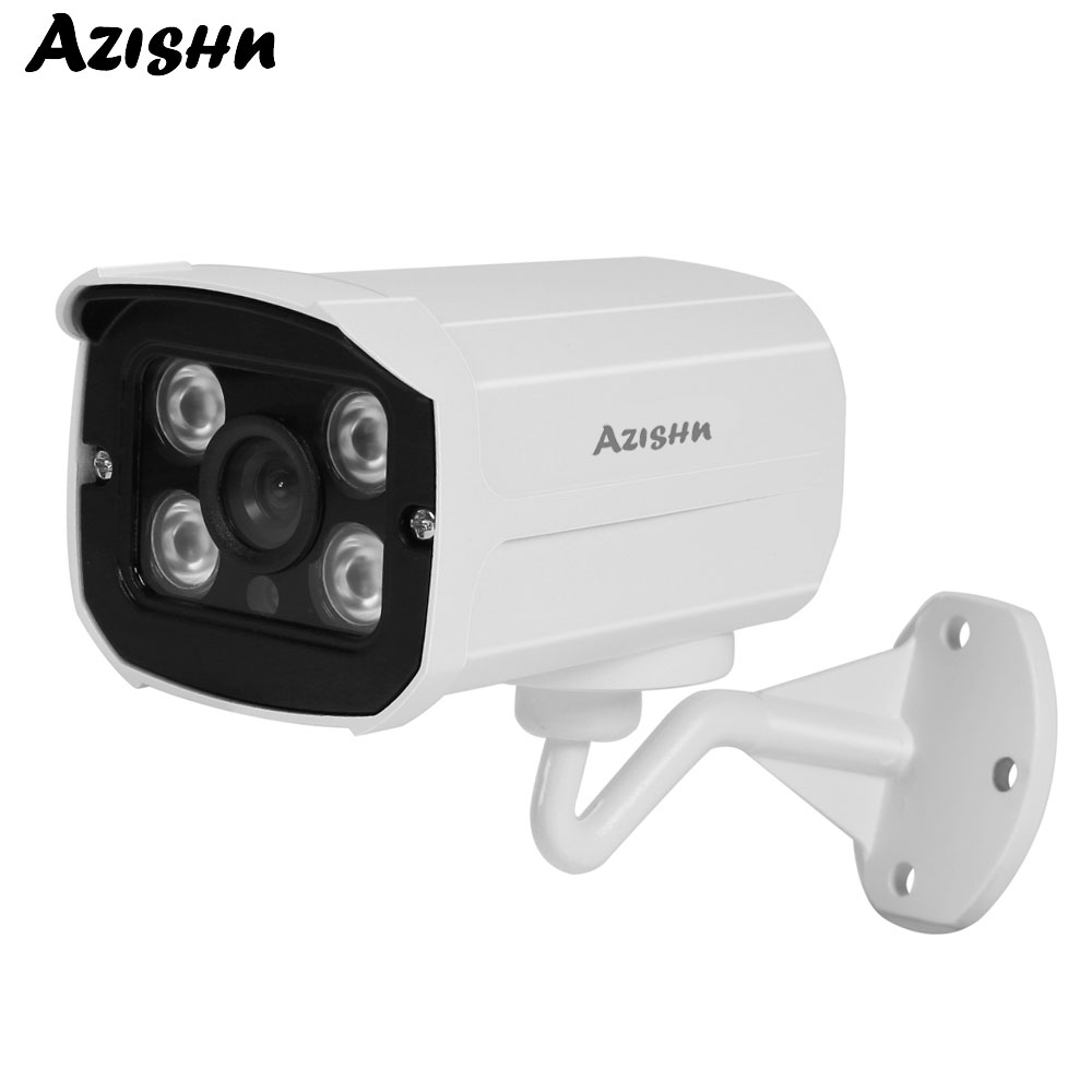 AZISHN 1080P AHD 2MP Security Camera Outdoor IP66 Waterproof With 4pcs IR LEDs For Night Vision Surveillance CCTV Bullet Camera