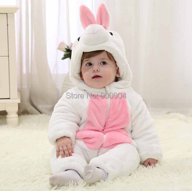 a08b15f366cce SP1182 Baby White Rabbit Thickened Climb Pajamas Jumpsuit Coverall Costume  Onesie