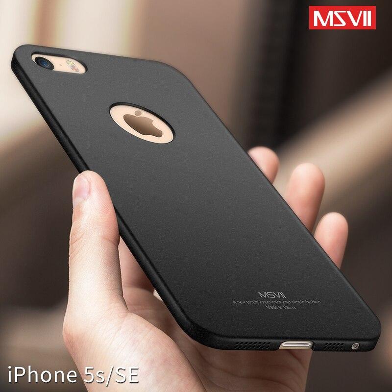 Msvii роскошный подходящий чехол для iPhone 5s SE 5 ультра тонкий чехол для iPhone se оболочка PC противоударный пластик задний защитный чехол