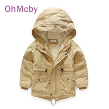 New Winter Boy Coat Children's Clothing Warm Trench Thickening Kids Coat Jacket Cotton Thick Cashmere Coat Baby Girls Outwear