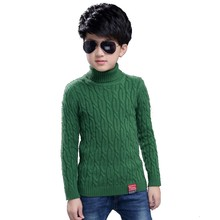 Casual Toddler Boys Sweaters Pullovers Black Cotton Crochet Clothing For Children's Green Kids Clothes Knitwear Autumn Costume(China)