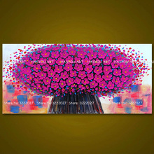 Large Thick Textured Modern Hand Painted Palette Knife Flower Oil Painting Canvas Wall Art picture For Living Room Home Artwork