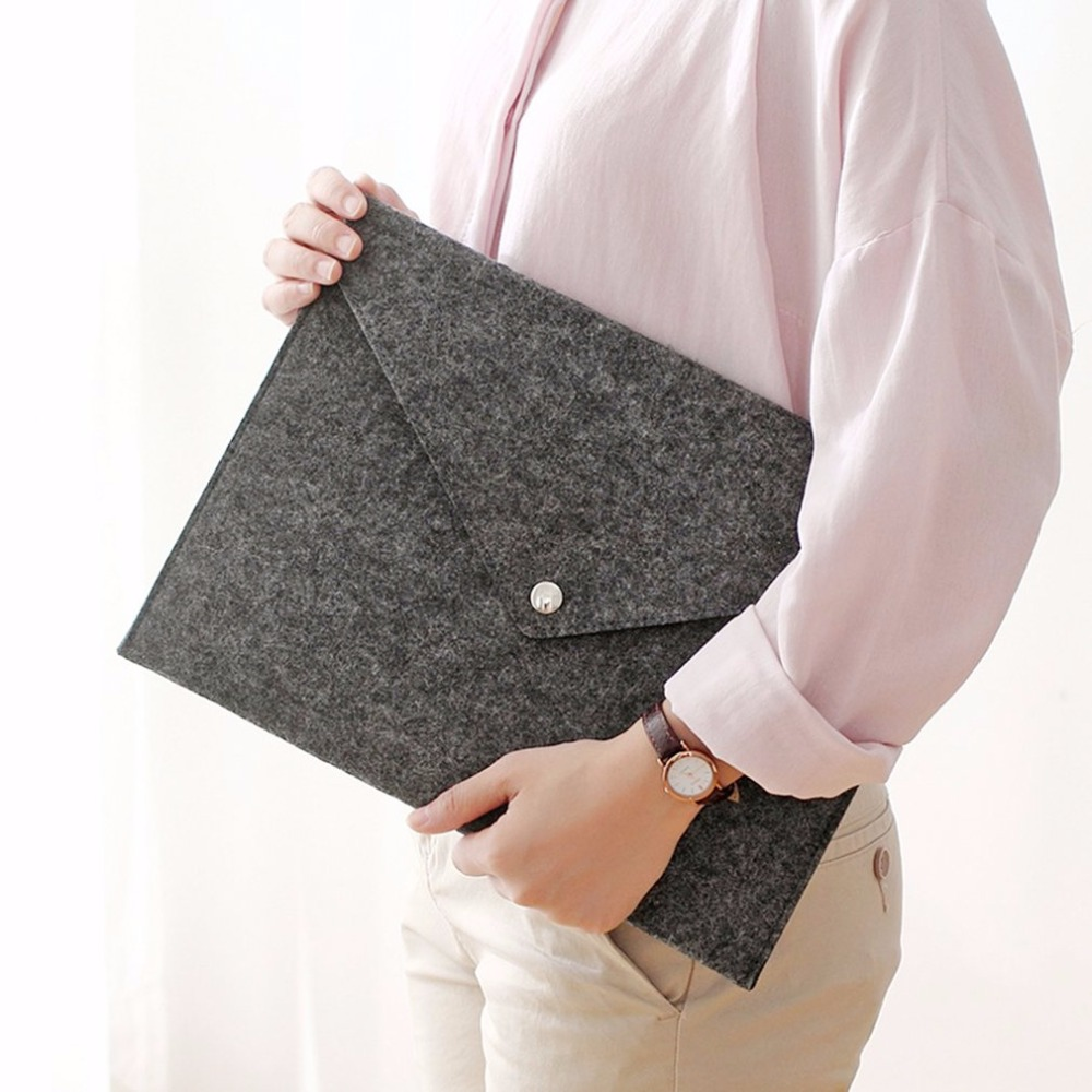 Durable Chemical Felt A4 Paper File Folder Tablet Computer Liner Bag Briefcase Document Bag  School Office Stationery Supplies