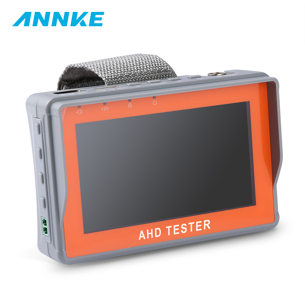 ANÃO 4.3 Polegada HD AHD PTZ Tester CCTV Monitor de Teste de Câmera AHD 1080 P Analógico Saída de Cabo UTP Testador 12V1A