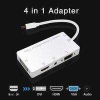 איכות גבוהה 4 ב 1 USB Mini dp ל VGA DVI HDMI עם 3.55 m אודיו מתאם עבור ה-macbook Tablet מחשב נייד צג מקרן