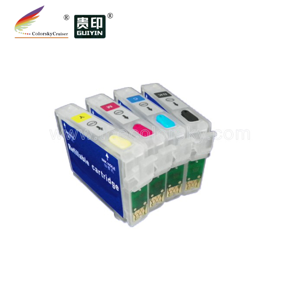 (rce1431) Refill Inkt Cartridge Voor Epson T1431-t1434 T143 T 143 Kantoor 960fwd 900wd (met Arc) Zonder Terugkeer