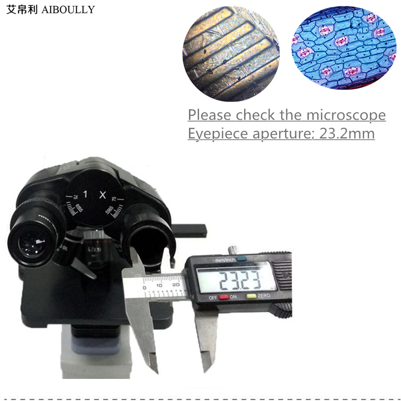 AIBOULLY For biological microscopy 23.2 mm pore size Electronic eyepiece 2 megapixels Video microscope Video telescope