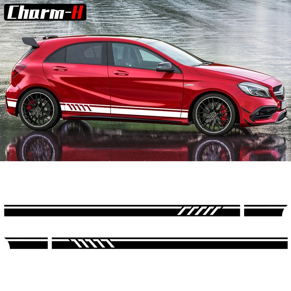 Edition 1 Style Side Stripes Decal Stickers for Mercedes Benz W176 A - Ավտոմեքենայի արտաքին պարագաներ - Լուսանկար 2