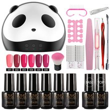 MIZHSE Nail Polish 6 Colors Art Tool Kits with 36W USB UV LED Lamp Gel Varnishes Set Base Top Coat Manicure & Pedicure Machine(China)