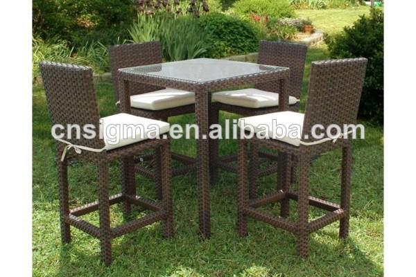 новый дизайн ротанга бар набор для барбекю столы и стулья