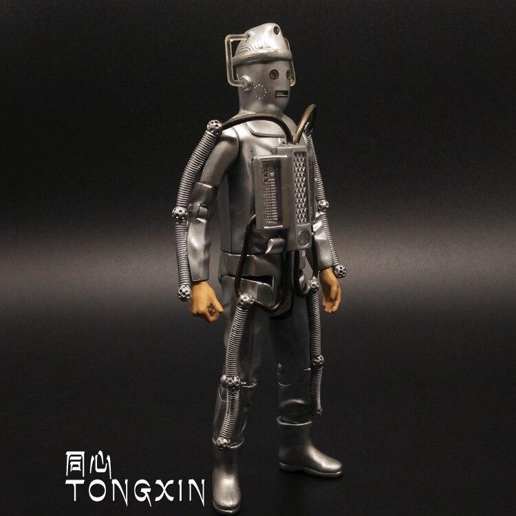 SAINTGI Doctor Who Cybermen Cyberman Computer robot movie 2014 Anime Game Figurine PVC Action Figure Model Toy 15cm opp bag bbc