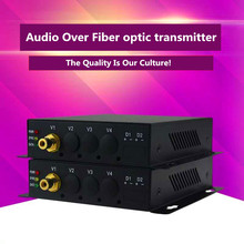 ZY-HA101 Audio Data Transmission 20km  Audio Over Fiber Optic Audio Converter Audio Fiber Optical Extender Via FC Fiber Cable